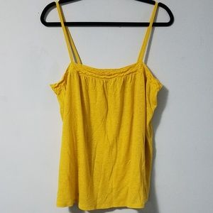 Darling Old Navy mustard yellow babydoll top, XL